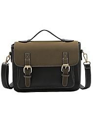 cheap -Women Bags PU Satchel Zipper for All Seasons Black Red Dark Green Brown