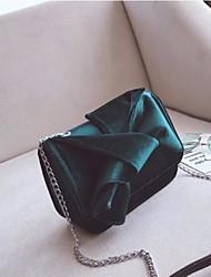 Women Bags Velvet Shoulder Bag Zipper for Casual All Seasons Gray Dark Green Wine