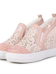 economico -Per donna Scarpe Tulle PU (Poliuretano) Primavera Estate Autunno Club Shoes Scarpe Hole Sneakers Zeppa Punta tonda per Ufficio e carriera