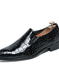 cheap -Men's Shoes Synthetic Microfiber PU Spring Fall Formal Shoes Loafers & Slip-Ons For Casual Office & Career Black