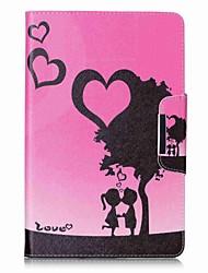 Porte-cartes porte-cartes de coeurs avec étui en cuir magnétique pour casque samsung galaxy e 9.6 t560 t561 Tablette 9,6 pouces
