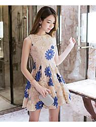 cheap -Women's Classic & Timeless A Line Dress - Floral