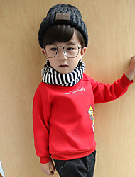 cheap -Boys' Floral Blouse,Cotton Winter Long Sleeve Red Navy Blue