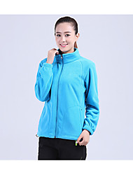 cheap -Men's Women's Hiking Fleece Jacket Outdoor Winter Keep Warm Fleece Winter Fleece Jacket Full Length Visible Zipper Running/Jogging