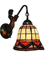 preiswerte -durchmesser 18 cm retro land meerjungfrau tiffany wandleuchten glasschirm wohnzimmer schlafzimmer leuchte