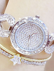 cheap -Women's Pave Watch Unique Creative Watch Fashion Watch Japanese Quartz Hot Sale Stainless Steel Band Charm Silver Gold