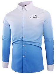 cheap -Men's Cotton Shirt - Color Block