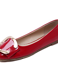 cheap -Women's Shoes PU Spring / Summer Ballerina Flats for Office & Career Red / Green / Nude