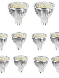 cheap -10pcs 6W MR16 LED Spotlight 48*2835SMD 550LM Warm/Cool White Aluminum Spot Lamp AC/DC12V