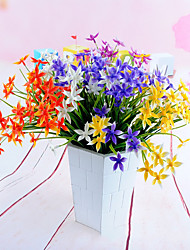 3 bouquet plantes artificielles chanceux herbe 4 couleurs 32 cm décoration de la maison