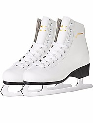 Kid's Figure Skates Ice Skates Leather Trainer Wearable Beginner Professional Leisure Sports White