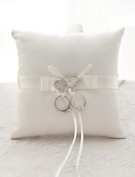 economico -fiore di strass di nastro cuore (s) fiocco cerimonia di nozze in raso bella