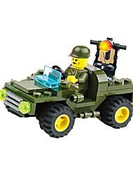 Недорогие -Конструкторы Наборы для моделирования Полицейская машинка Игрушки Автомобиль Мягкие пластиковые 1 Куски Подарок