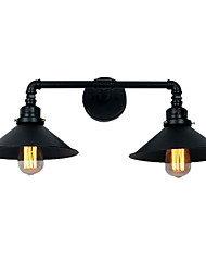 cheap -Vintage Industrial Pipe Wall Lights Black Metal Shade Restaurant Cafe Bar Decoration lighting