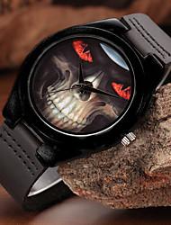 Herrn Sportuhr Modeuhr Armbanduhr Einzigartige kreative Uhr Armbanduhren für den Alltag Uhr Holz Quartz hölzern Echtes Leder BandCool