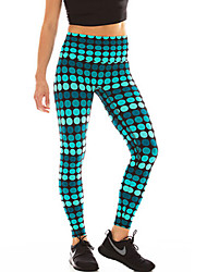 cheap -Women's Stitching Print Solid Color Legging - Print, Dots