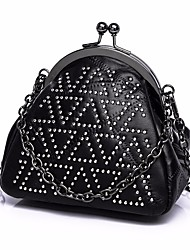 cheap -Women Bags Other Leather Type Tote Buttons for Outdoor All Seasons Black