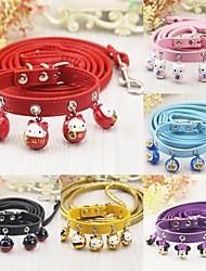 preiswerte -Katze Hund Halsbänder Leinen Trompetenärmel Cartoon Design Gelb Fuchsia Rot Rosa