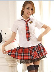 cheap -Student / School Uniform Cosplay Costume Christmas Halloween Carnival Oktoberfest New Year Festival / Holiday Halloween Costumes Red