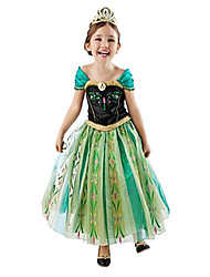 Cosplay Costumes Princess Fairytale Movie Cosplay Green Dress Halloween Christmas New Year Kid Chiffon Cotton