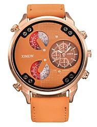 cheap -Men's Quartz Wrist Watch Hot Sale Leather Band Casual Black Blue Brown Khaki