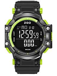 Муж. Модные часы электронные часы Цифровой силиконовый Группа Черный
