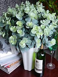 3 bouquet / lot artificiel eucalyptus feuille vert plante branches fleur