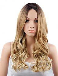 cheap -Natural Wave Blonde Women's Capless Natural Wigs Long Synthetic Hair