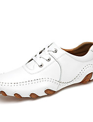 cheap -Men's Shoes Nappa Leather Fall / Winter Comfort Oxfords White / Black / Blue / Party & Evening