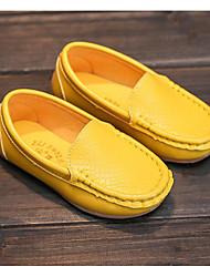 abordables -Fille Chaussures Similicuir Printemps Automne Confort Mocassins et Chaussons+D6148 Pour Décontracté Blanc Noir Jaune Bleu Rose