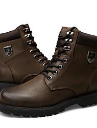 Недорогие -женская обувь натуральная кожа cowhide nappa кожа осень зима мода ботинки bootie боевые сапоги сапоги круглые носки / ботильоны