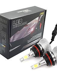 Недорогие -joyshine c6-9004 светодиодные фары 60w 6000lm dc9-36v cob конверсионный комплект луча света холодный белый