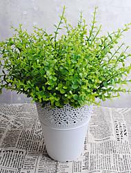 32cm 3 Pcs 7 Branches/pc Home Decoration Artificial Grass Orchid Euclyptus
