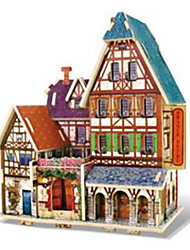 cheap -RUOTAI 3D Puzzles Wood Model Model Building Kit Architecture Wood Houses Kid's Gift