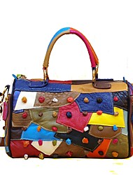 cheap -Women's Bags Cowhide Tote Tiered for Casual All Seasons Rainbow