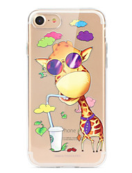 abordables -Funda Para Apple iPhone X iPhone 8 iPhone 8 Plus Ultrafina Transparente Diseños Funda Trasera Caricatura Animal Suave TPU para iPhone X