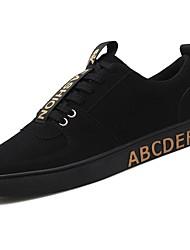 Homme Chaussures Polyuréthane Printemps Automne Confort Basket Lacet Pour Décontracté Noir et Or Rouge Noir/blanc
