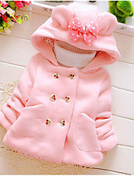 cheap -Girls' Solid Down & Cotton Padded Winter Fall Red Blushing Pink Light Blue