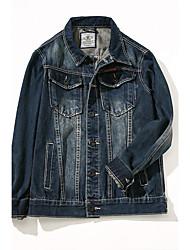 cheap -Men's Vintage Plus Size Jacket - Solid, Oversized