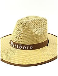 Недорогие -Для мужчин Шапки На каждый день Соломенная шляпа,Лето Солома С принтом Цветочный Бант