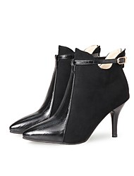 cheap -Women's Shoes Nubuck leather Leatherette Spring Fall Fashion Boots Boots Pointed Toe Booties/Ankle Boots Zipper Split Joint for Wedding