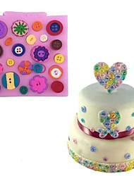 cheap -Button Shape Silicone Cake Mold Candy Cookie Chocolate Sugar Craft Lace Baking Mould