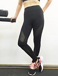 preiswerte -Damen Druck Genähte Spitzen Einfarbig Legging