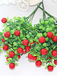 34cm 3 pcs 15 cerise / pc décoration de la maison plantes artificielles fruits rouge cerise