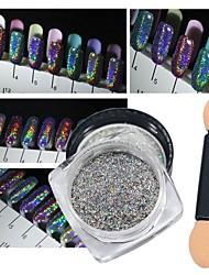 economico -1pc 0.5g il manicure di modello grossolano 7 colore argento magico specchio in polvere