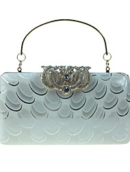 cheap -Women Bags leatherette Evening Bag Crystal Detailing Pattern / Print for Wedding Event/Party Formal All Seasons Blue Silver Wine