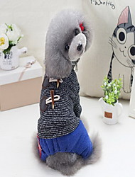 Dog Sweater Dog Clothes Keep Warm New Year's British Coffee Gray