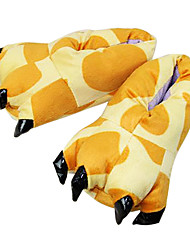 Kigurumi Slippers Giraffe Costume Onesie Pajama Yellow Polyester Cotton Cosplay For Adults' Animal Sleepwear Festival / Holiday Lovely Paw Free Size