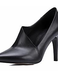 preiswerte -Damen Schuhe Nappaleder Leder Frühling Herbst Komfort Pumps High Heels Für Normal Schwarz