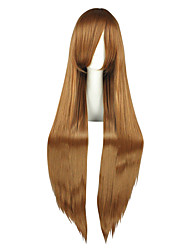 cheap -Synthetic Wig kinky Straight Synthetic Hair Brown Wig Women's Long Capless
